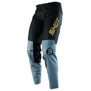 Dětské motokrosové kalhoty Shot Devo Storm černo-šedo-zlaté
