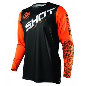 Dětský motokrosový dres Shot Devo Slam černo-bílo-oranžový
