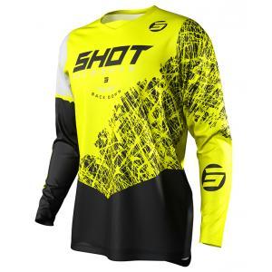 Dětský motokrosový dres Shot Devo Storm černo-bílo-fluo žlutý