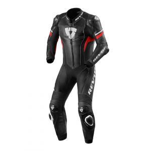 Jednodílná kombinéza na motorku Revit Hyperspeed černo-neonově červená