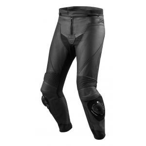 Kožené kalhoty na motorku Revit Vertex GT černé výprodej