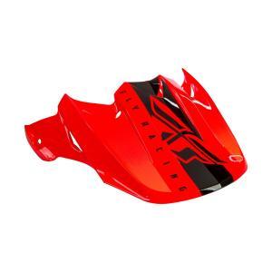 Kšilt pro přilbu FLY Racing F2 černo-fluo oranžový
