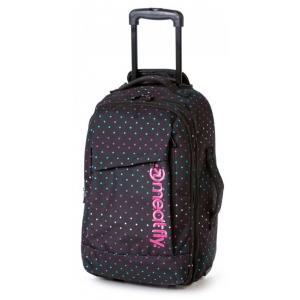 Kufr Meatfly Revel Trolley Bag černo-růžový