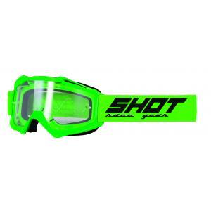Motokrosové brýle Shot Assault Solid fluo zelené