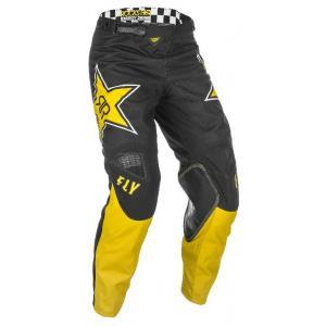 Motokrosové kalhoty FLY Racing Kinetic Rockstar 2021 žluto-černé