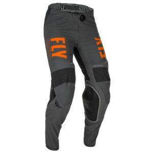 Motokrosové kalhoty FLY Racing Lite 2021 šedo-oranžovo-černé