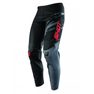 Motokrosové kalhoty Shot Contact Draw černo-červené