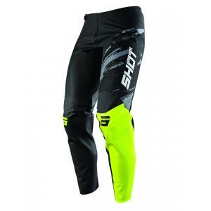 Motokrosové kalhoty Shot Contact Draw černo-fluo žluté