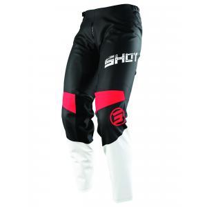 Motokrosové kalhoty Shot Devo Slam černo-bílo-červené
