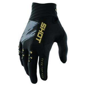 Motokrosové rukavice Shot Contact Draw černo-zlaté výprodej
