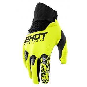 Motokrosové rukavice Shot Devo Storm černo-šedo-fluo žluté