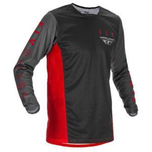Motokrosový dres FLY Racing Kinetic K121 2021 červeno-šedo-černý výprodej