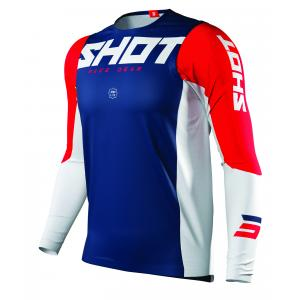 Motokrosový dres Shot Aerolite Airflow modro-bílo-červený