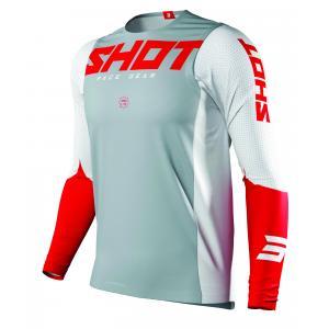 Motokrosový dres Shot Aerolite Airflow šedo-bílo-červený