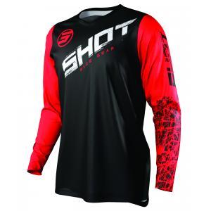Motokrosový dres Shot Devo Slam černo-bílo-červený