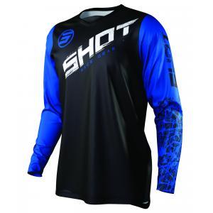 Motokrosový dres Shot Devo Slam černo-bílo-modrý