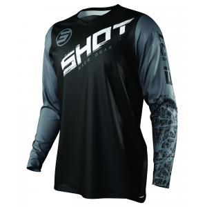 Motokrosový dres Shot Devo Slam černo-bílo-šedý