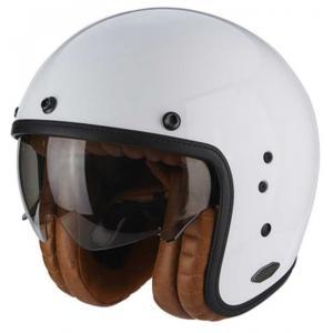 Otevřená přilba na motorku Scorpion Belfast Luxe bílá