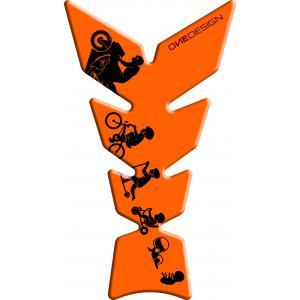 Polep palivové nádrže Print - Moon fluo oranžový