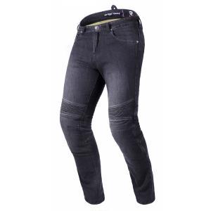 Prodloužené jeansy na motorku Street Racer Spike II CE černé