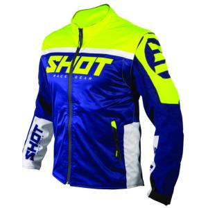 Softshellová bunda Shot Lite modro-bílo-fluo žlutá výprodej