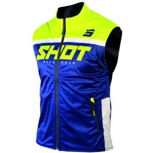 Softshellová vesta Shot Lite modro-fluo žlutá