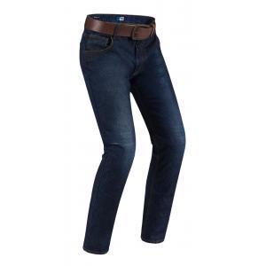 Zkrácené jeansy na motorku PMJ Deux tmavě modré výprodej