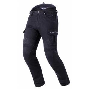 Zkrácené jeansy na motorku Street Racer Cargo CE černé