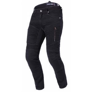 Zkrácené jeansy na motorku Street Racer Stretch II CE černé