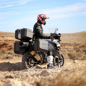 Boční hliníkový kufr na motorku SHAD Terra TR47 D0TR47100LB BLACK EDITION levý