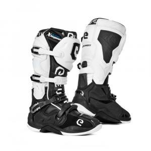 Boty na motorku Eleveit X-Legend černo-bílé