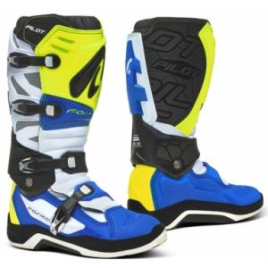 Boty na motorku Forma Pilot modro-bílo-fluo žluté