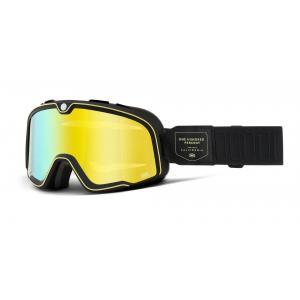 Brýle 100% BARSTOW Caliber černé (žluté plexi)