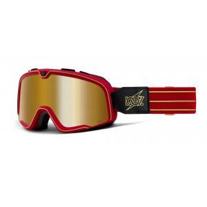 Brýle 100% BARSTOW Cartier True červené (zlaté plexi)