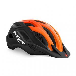 Cyklo přilba MET Crossover černo-oranžová