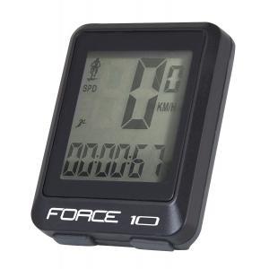 Cyklopočítač FORCE 10 černý