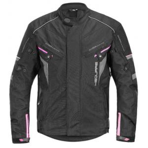 Dámská bunda na motorku 4SQUARE Roadster černo-růžová