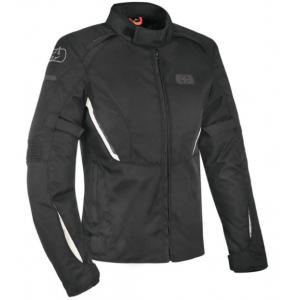 Dámská bunda na motorku Oxford Iota 1.0 Air černo-bílá výprodej