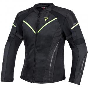 Dámská bunda na motorku Rebelhorn Flux černo-fluo žlutá