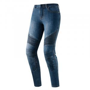 Dámské jeansy na motorku Rebelhorn Vandal seprané modré