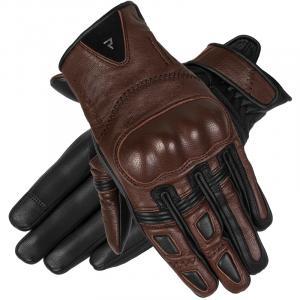 Dámské rukavice na motorku Rebelhorn Thug II tmavě hnědé