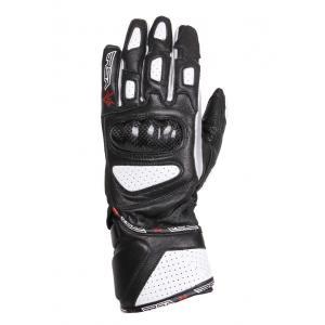 Dámské rukavice na motorku RSA RX-1 černo-bílé - II. jakost