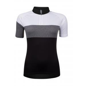 Dámský dres FORCE View černo-bílo-šedý - krátký rukáv