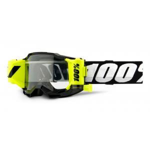 Dětské motokrosové brýle 100% ACCURI 2 Roll-Off černé (čiré plexi)