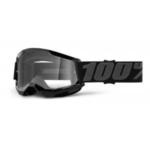 Dětské motokrosové brýle 100% STRATA 2 černé (čiré plexi)