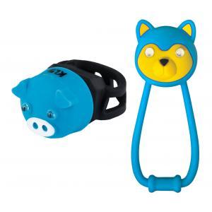 Dětské přední + zadní světlo KELLYS Animal modré