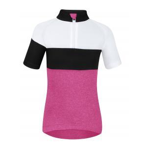 Dětský dres FORCE View růžovo-bílo-černý
