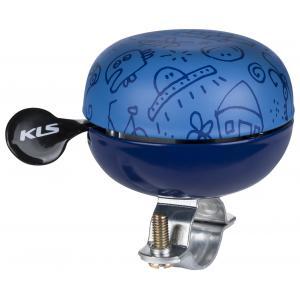 Dětský zvonek KELLYS Bell 60 Doodles modrý