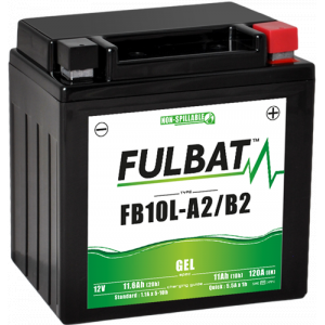 Gelová baterie FULBAT FB10L-A2/B2 GEL (YB10L-A2/B2 GEL)