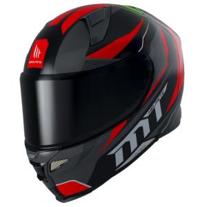 Integrální přilba na motorku MT Revenge 2 Foundation černo-šedo-červená výprodej